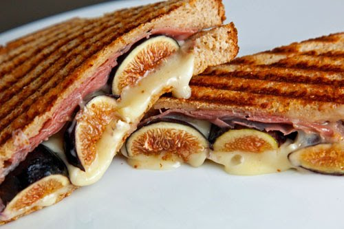 Fig and Brie Panini with Prosciutto