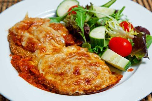 Fried Green Tomato Parmesan