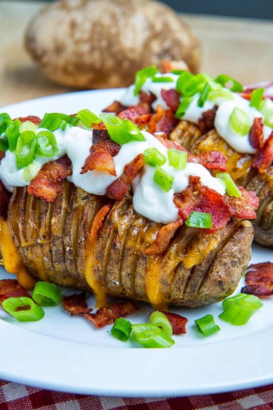 Fully Loaded Hasselback Potatoes