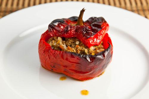 Gemista (Greek Stuffed Tomatoes and Peppers)