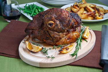 Greek Style Roast Leg of Lamb with Lemon Roasted Potatoes