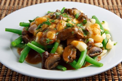 Green Bean and Mushroom Poutine