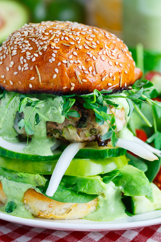 Green Goddess Zucchini Turkey Burger