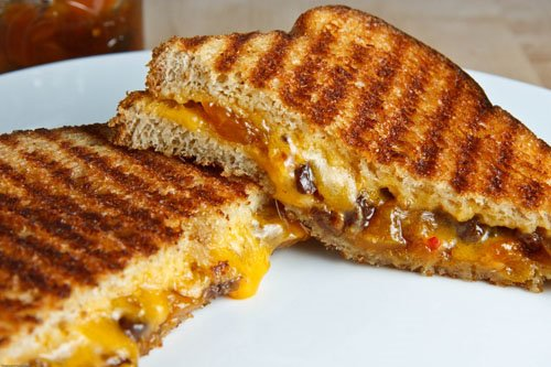 Grilled Cheese Sandwich with Mango Chutney