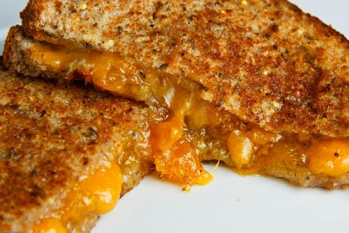 Grilled Cheese Sandwich with Mango and Cardamom Jam