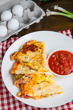 Ham and Egg Breakfast Quesadillas