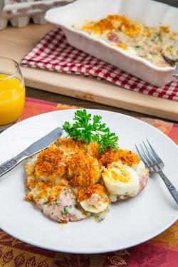 Ham and Eggs au Gratin