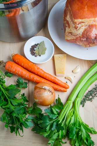 Ham Broth (and How to Cook a Smoked and Cured Picnic Ham)