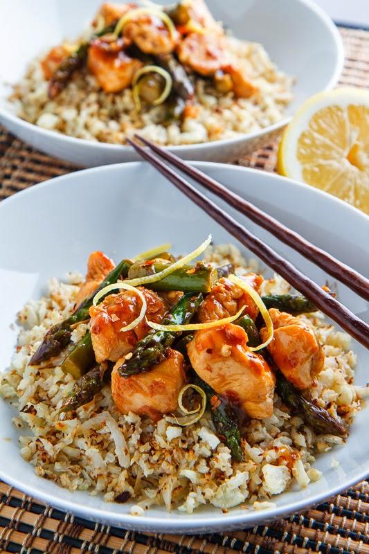 Honey Lemon Chicken and Asparagus Stir Fry