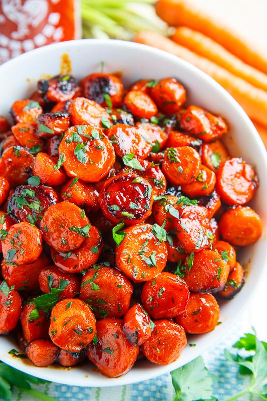Honey Sriracha Roasted Carrots