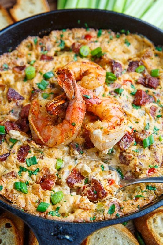Cajun Shrimp and Andouille Cheese Dip
