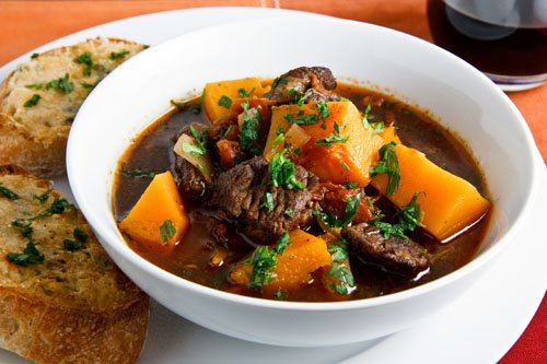Italian Style Beef Stew with Butternut Squash