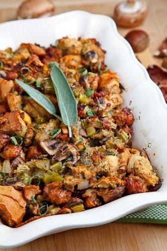 Italian Sausage, Mushroom and Chestnut Stuffing