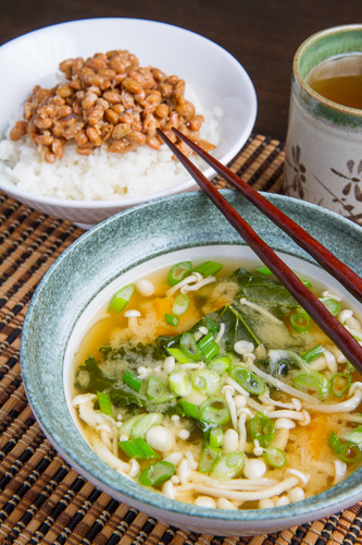 Kale, Butternut Squash and Mushroom Miso Soup