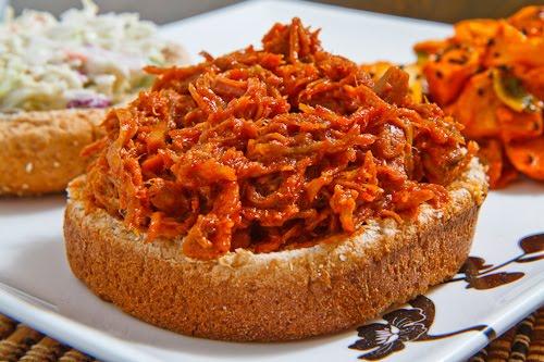 Korean BBQ Pulled Pork Sandwich