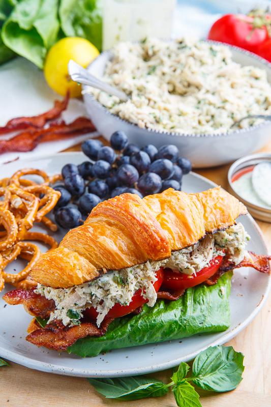 Lemon Basil Chicken Caesar Salad Sandwich