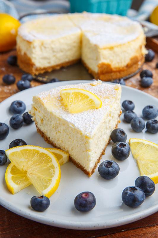 Lemon New York Style Cheesecake with Gingersnap Crust