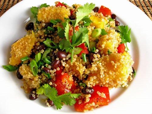 Mango and Black Bean Quinoa Salad