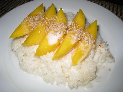 Mango on Coconut  Sticky Rice