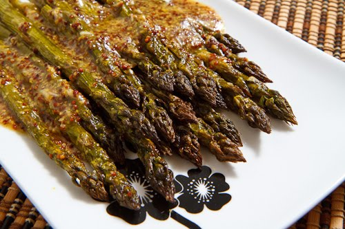 Maple Dijon Roasted Asparagus