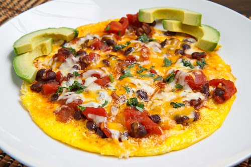 Black Bean Chili Omelette