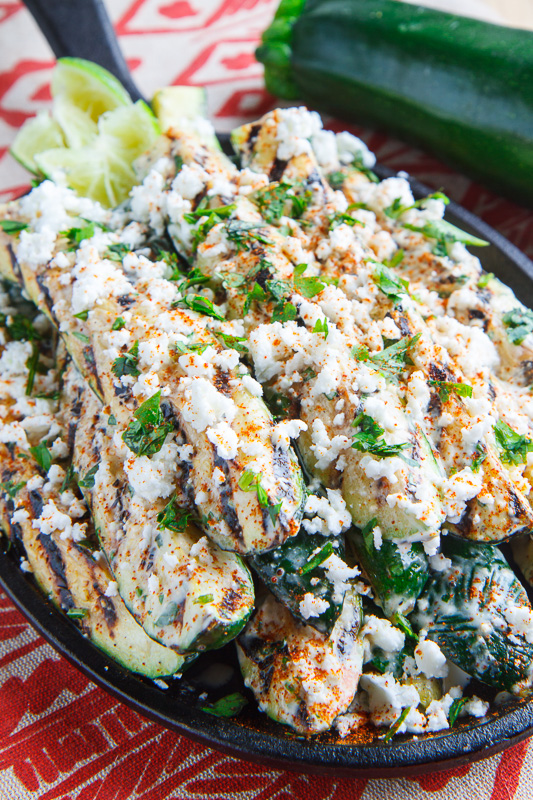 Mexican Street Corn Style Grilled Zucchini
