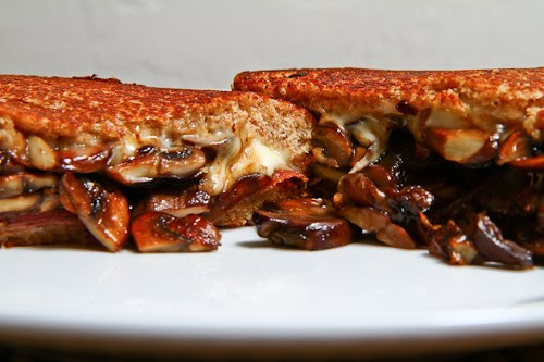 Mushroom and Prosciutto Grilled Cheese Sandwich