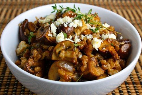 Mushroom and Thyme Farro Salad