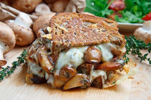 Mushroom Grilled Cheese Sandwich (aka The Mushroom Melt)