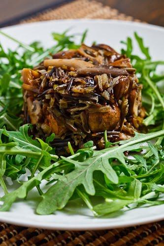 Mushroom and Leek Wild Rice Salad