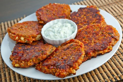 Ntomatokeftedes (Greek Tomato and Feta Fritters)