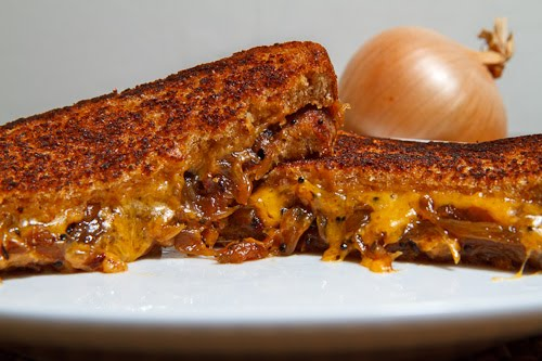 Onion Chutney Grilled Cheese Sandwich