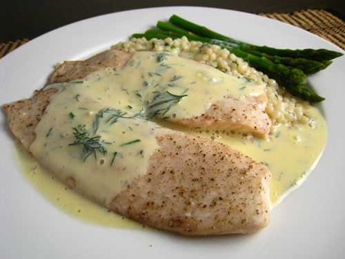 Pan Seared Tilapia in Avgolemono Sauce