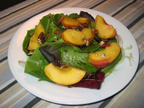 Peach Salad with Maple Balsamic Vinaigrette