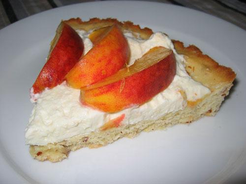 Fresh Peach Tart with Mascarpone