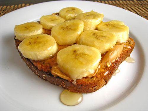 Peanut Butter, Banana and Honey Sandwiches