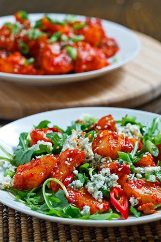 Pear Kimchi and Blue Cheese Salad