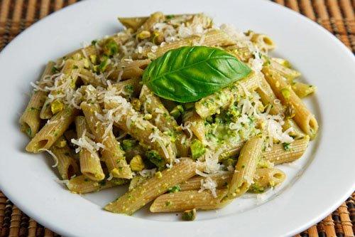 Pistachio Pesto on Penne