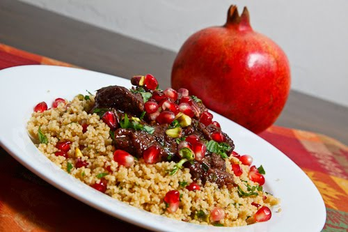 Pomegranate and Date Lamb Tagine