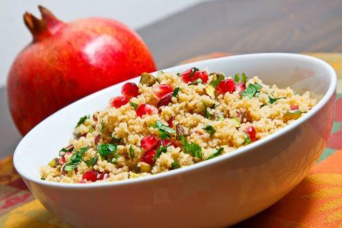 Pomegranate and Pistachio Couscous
