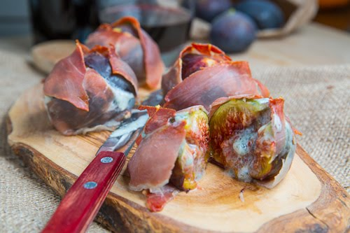 Prosciutto Wrapped Gorgonzola Stuffed Figs