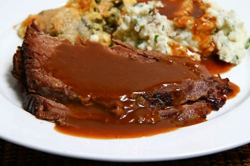 Roast Beef with Coffee Gravy