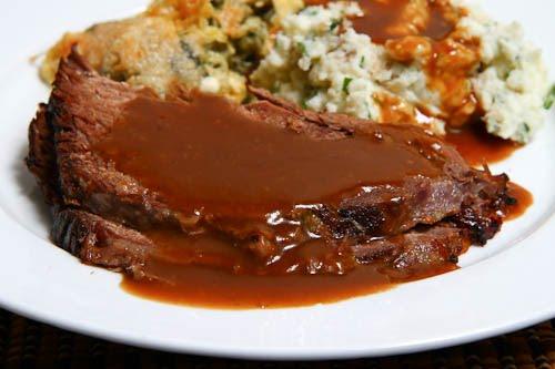 Roast Beef with Coffee Gravy