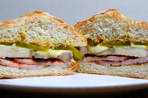 Roast Pork and Peameal Bacon Sandwich (A Canadian take on a Cuban Sandwich)