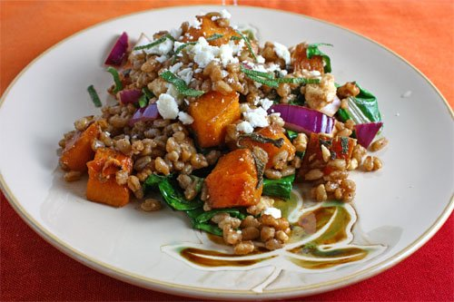 Roasted Butternut Squash Farro Salad