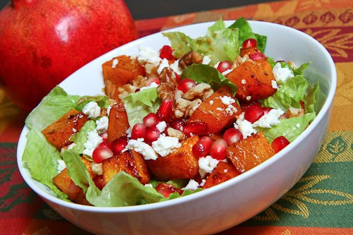 Roasted Butternut Squash and Pomegranate Salad