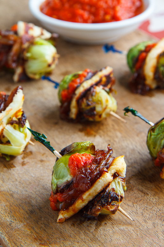 Roasted Brussels Sprouts and Halloumi Sliders with Harissa
