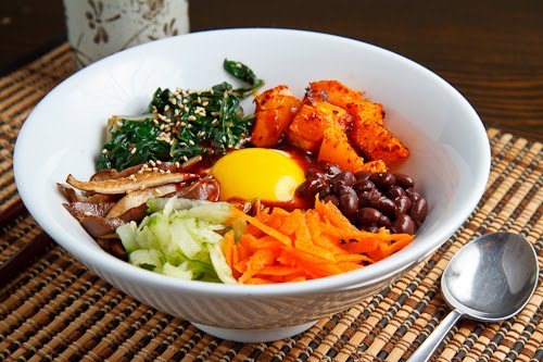 Roasted Butternut Squash and Swiss Chard Quinoa Bibimbap