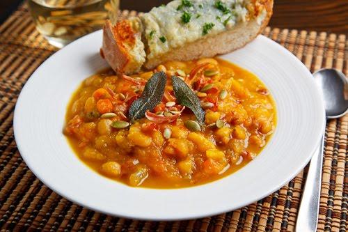 Roasted Pumpkin, Pancetta and Sage Soup