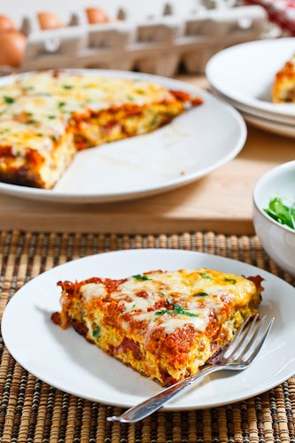 Roasted Red Pepper and Italian Sausage Frittata
